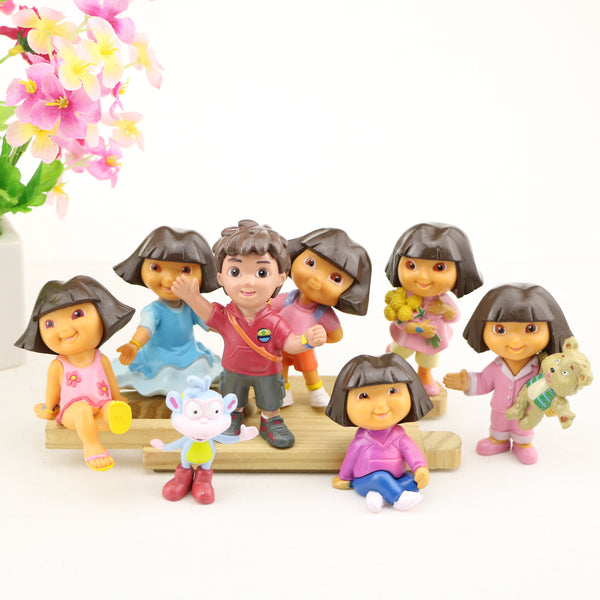 8 x Dora the Explorer Cake Toppers