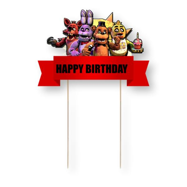 Five Nights at Freddy's Card Cake Topper