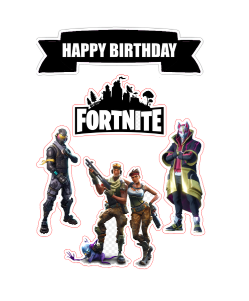 Fortnite Edible Cake Scene