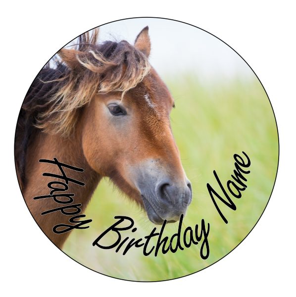 Horse Edible Cake Topper