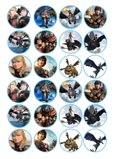 How to Train Your Dragon Edible Cupcake Toppers