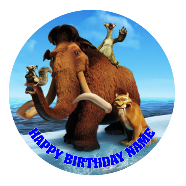 Ice Age Edible Cake Topper