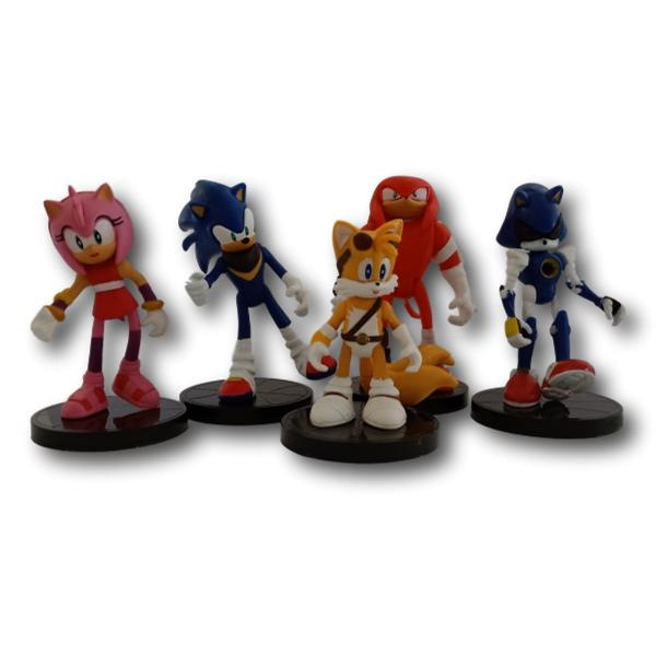5 x Sonic Cake Toppers
