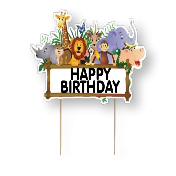 Jungle Safari Card Cake Topper