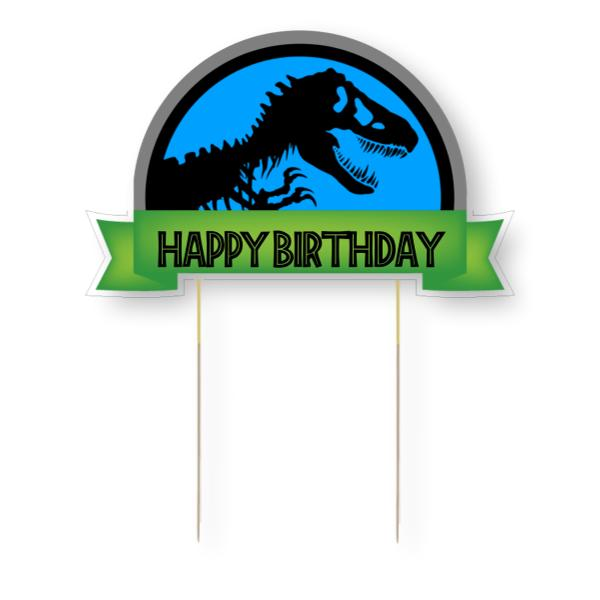 Jurassic World Card Cake Topper