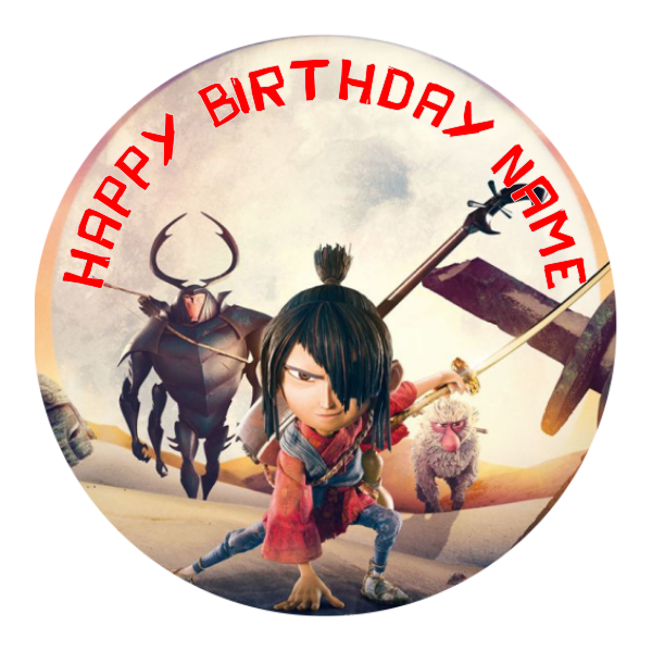 Kubo and the Two Strings Edible Cake Topper
