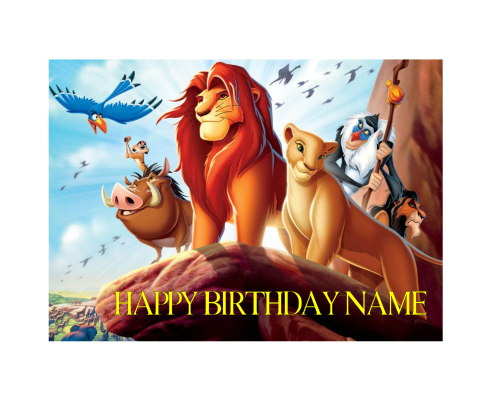 Lion King A4 Edible Image