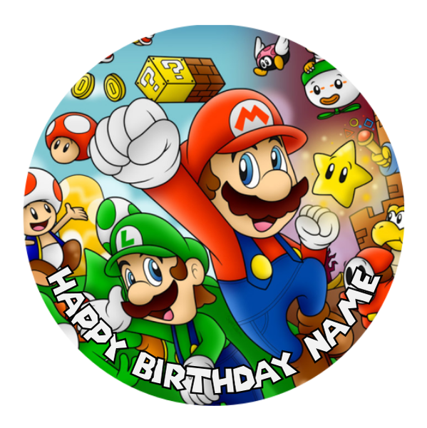 Super Mario Edible Cake Topper