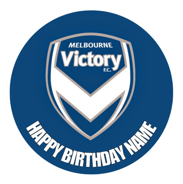 Melbourne Victory Edible Cake Topper