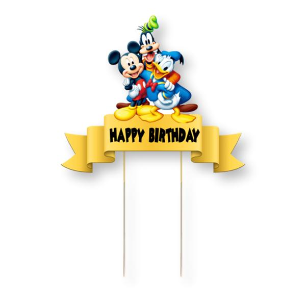 Mickey and Friends Card Cake Topper
