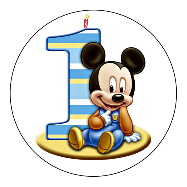 Baby Mickey Edible Cake Topper