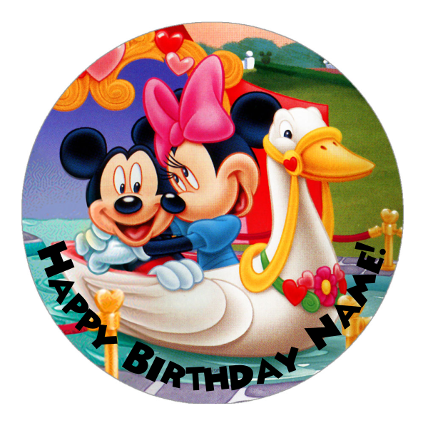 Mickey Mouse Edible Cake Topper