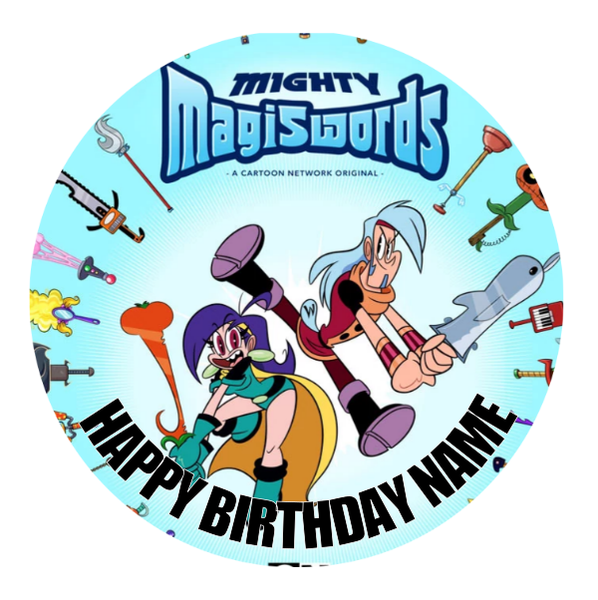Mighty Magiswords Edible Cake Topper