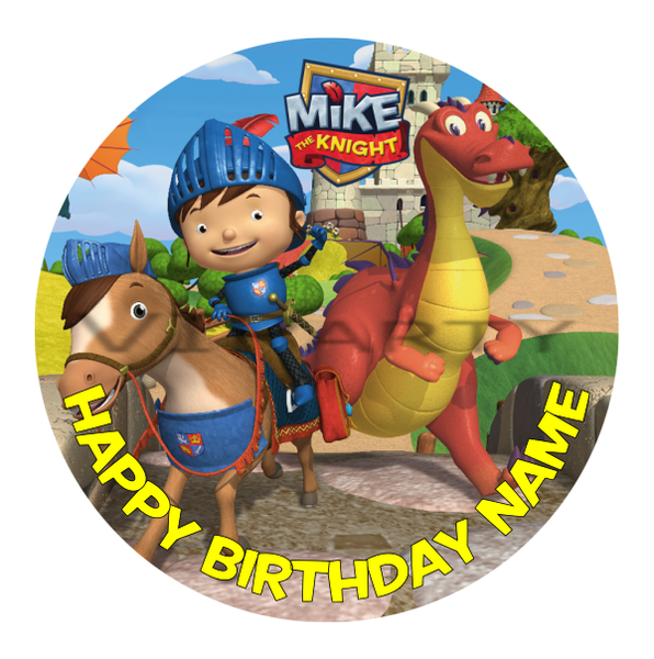 Mike the Knight Edible Cake Topper