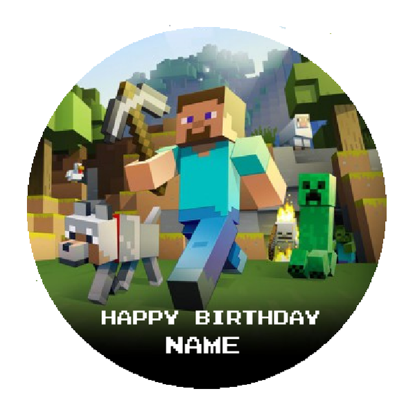 Minecraft Edible Cake Topper