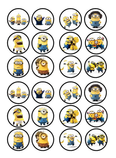 Minions Edible Cupcake Toppers