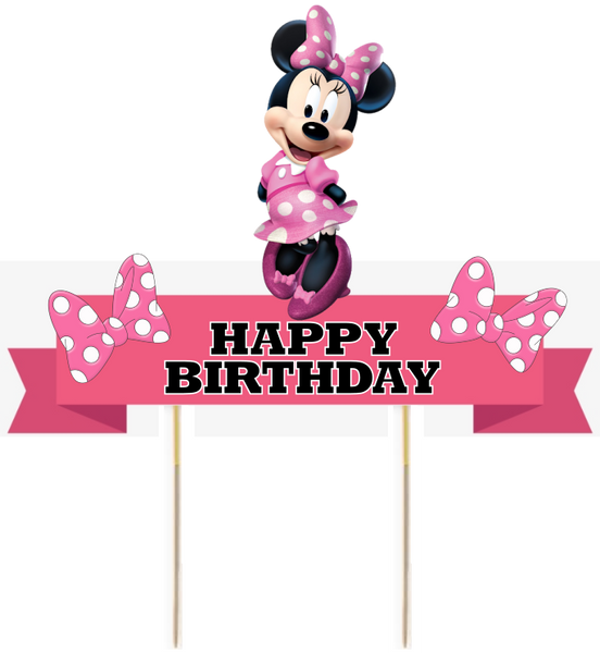 Minnie Mouse Card Cake Topper