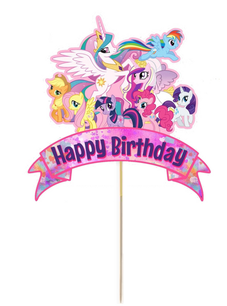 My Little Pony Card Cake Topper