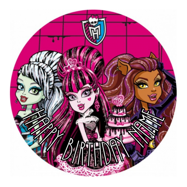 Monster High Edible Cake Topper