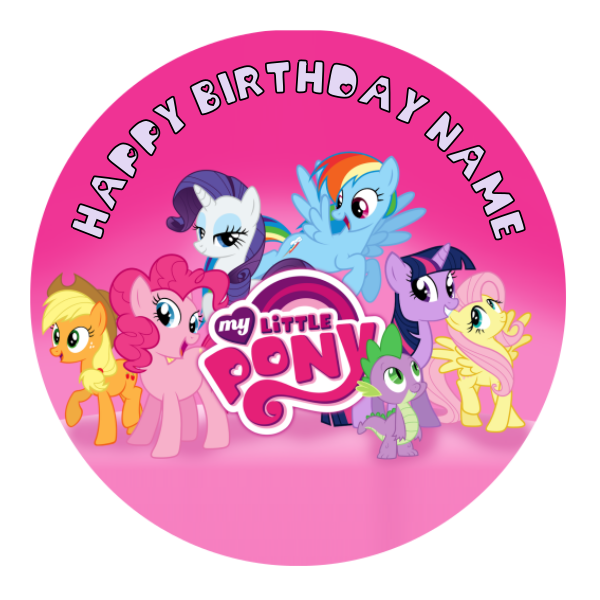 My Little Pony Edible Cake Topper
