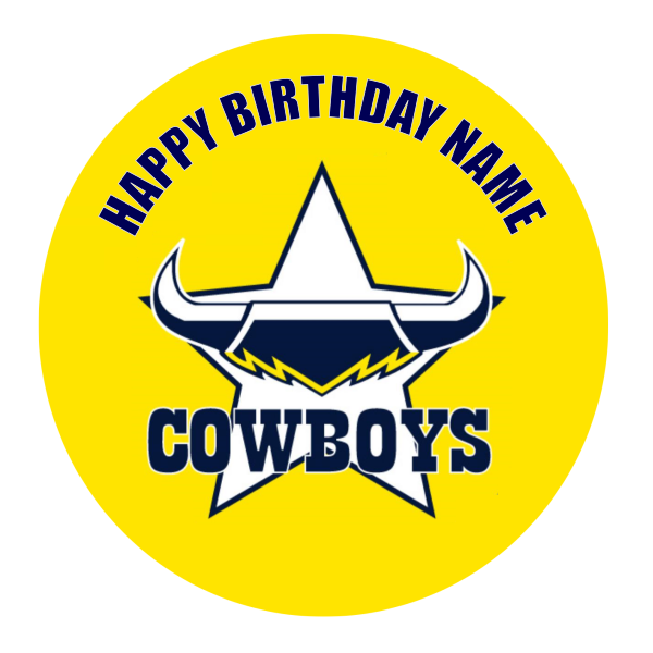 North Queensland Cowboys Edible Cake Topper