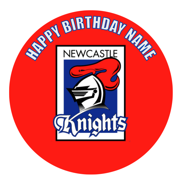 Newcastle Knights Edible Cake Topper