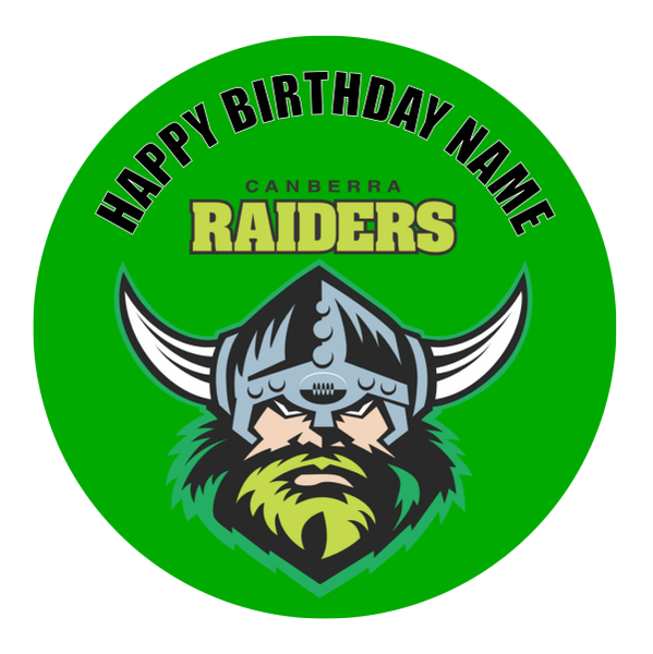 Canberra Raiders Edible Cake Topper