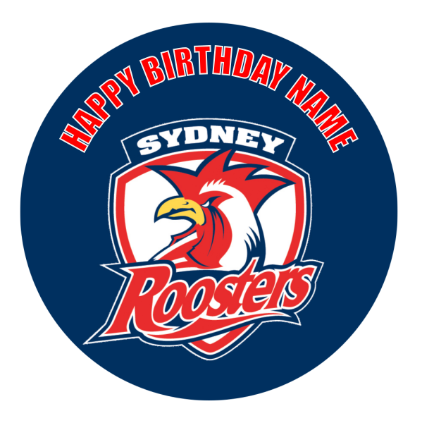 Sydney Roosters Edible Cake Topper