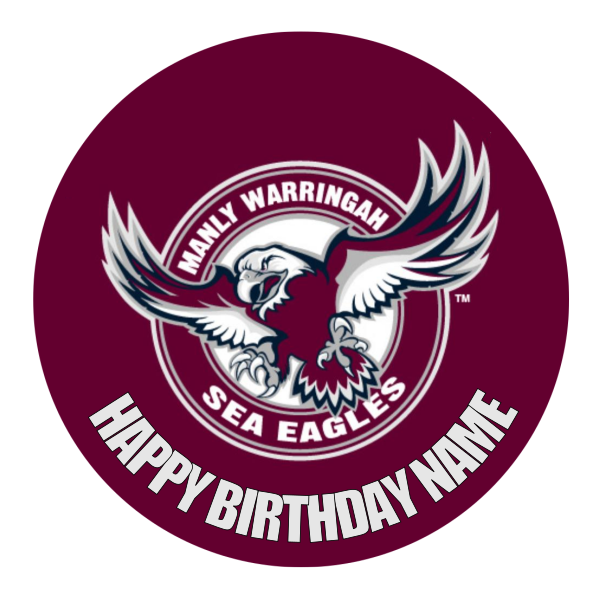 Manly Sea Eagles Edible Cake Topper