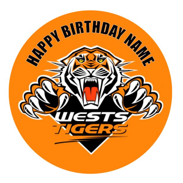 Wests Tigers Edible Cake Topper