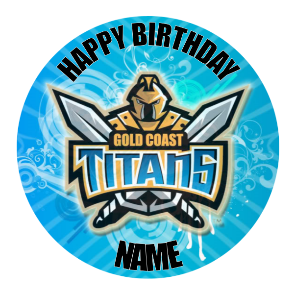 Gold Coast Titans Edible Cake Topper