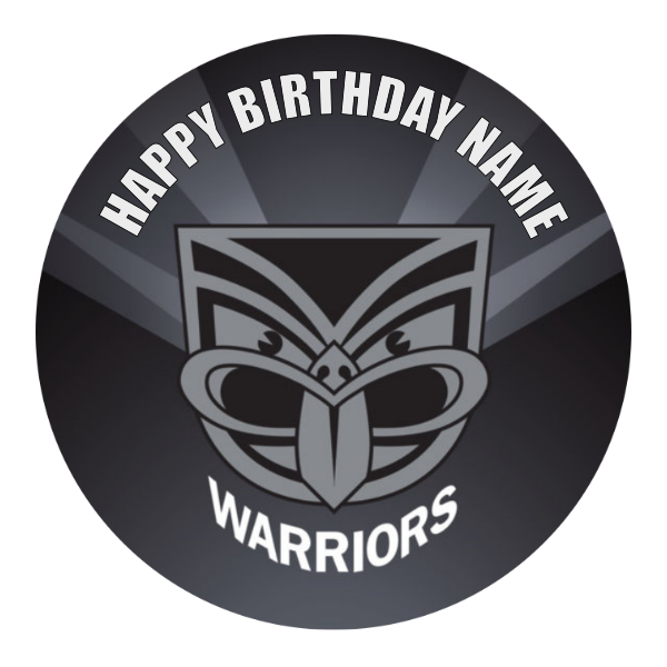 NZ Warriors Edible Cake Topper