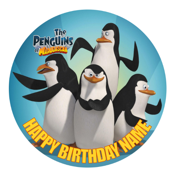 Penguins of Madagascar Edible Cake Topper