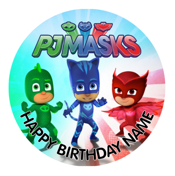 PJ Masks Edible Cake Topper