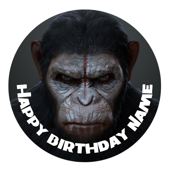 Planet of the Apes Edible Cake Topper