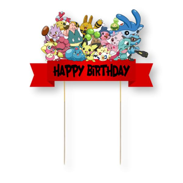Pokemon Card Cake Topper