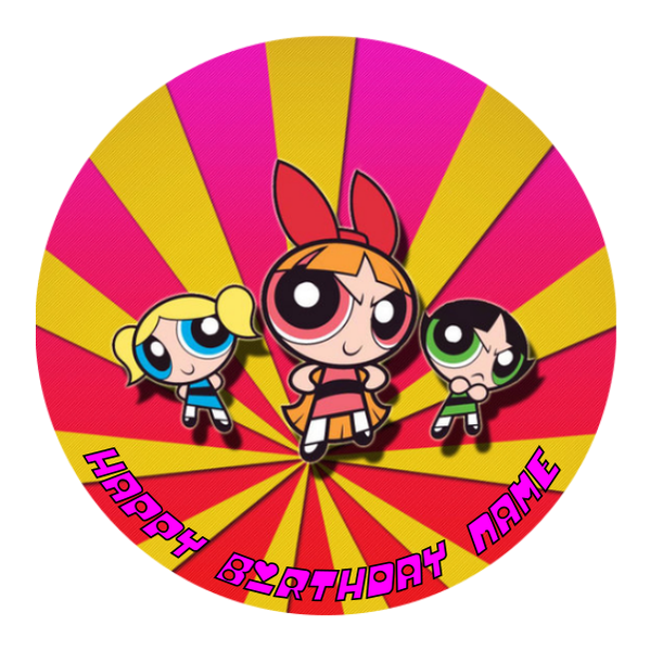 Powerpuff Girls Edible Cake Topper