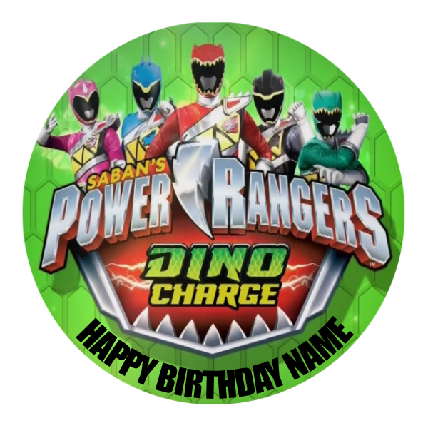 Power Rangers Edible Cake Topper