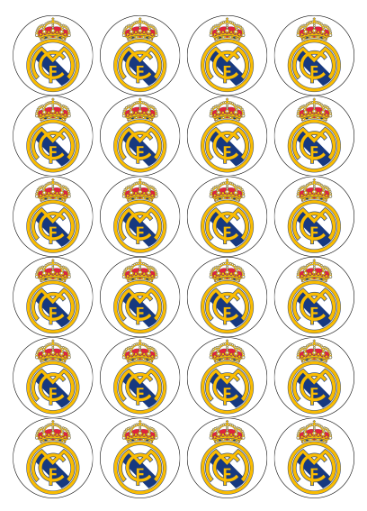 Real Madrid Edible Cupcake Toppers