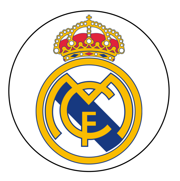 Real Madrid Edible Cake Topper