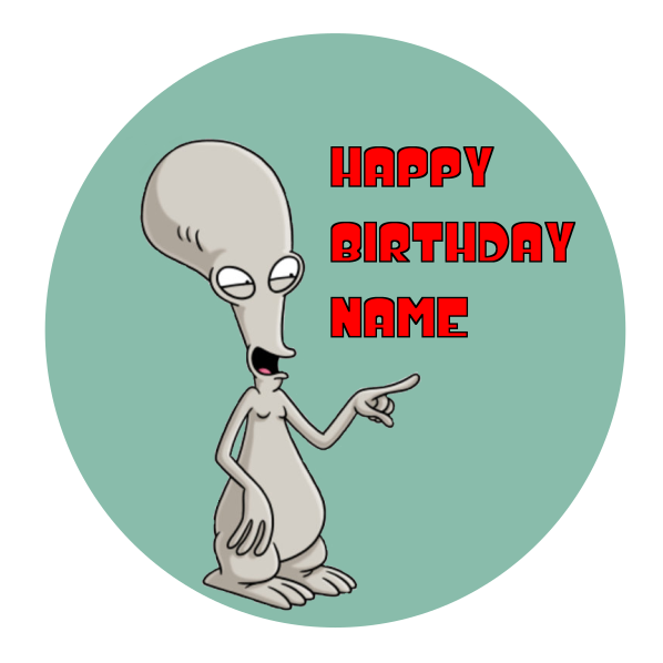 American Dad Roger Edible Cake Topper
