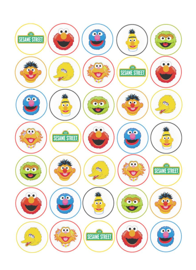 Sesame Street Edible Cupcake Toppers