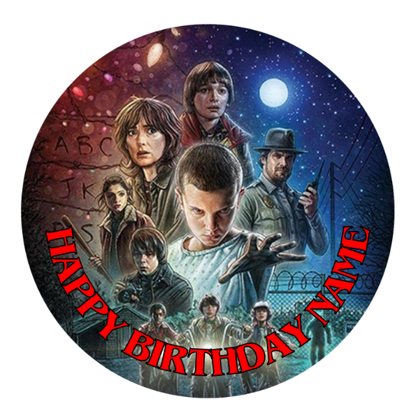 Stranger Things Edible Cake Topper