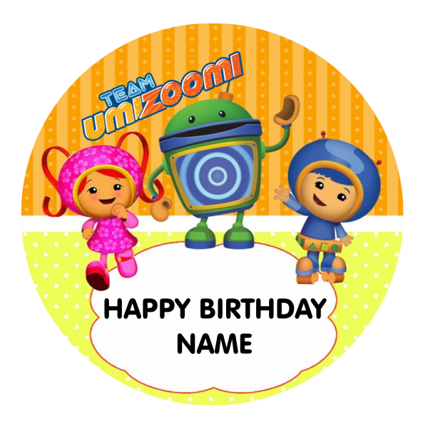 Team Umizoomi Edible Cake Topper