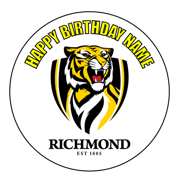 Richmond Tigers Edible Cake Topper