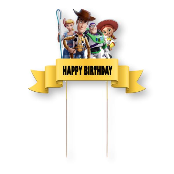 Toy Story Card Cake Topper