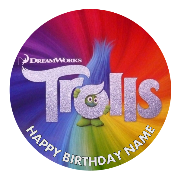 Trolls Edible Cake topper