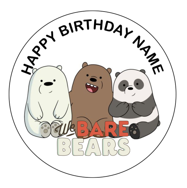 We Bare Bears Edible Cake Topper