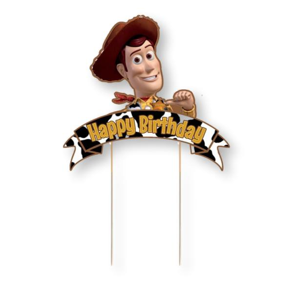 Toy Story Woody Card Cake Topper