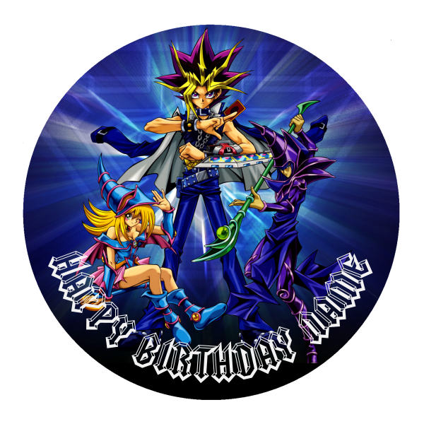 Yugioh Edible Cake Topper